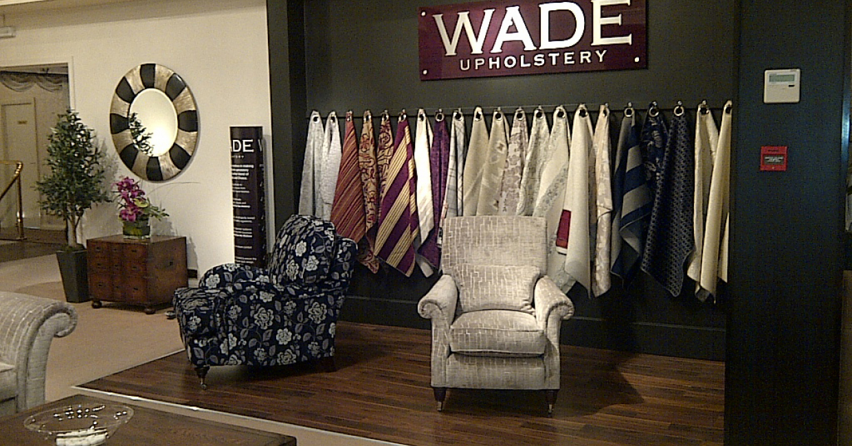 The new fabric bar in the Wade Upholstery showroom marks a significant departure from the brand's previous image