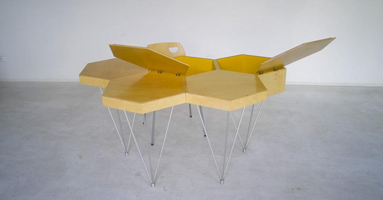 Honeycomb desk unit, Lorens & Lorens