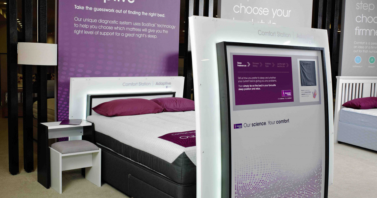 Comfort Station Adaptive (CSA) – everything the consumer needs to find their optimum bed firmness, all in one place