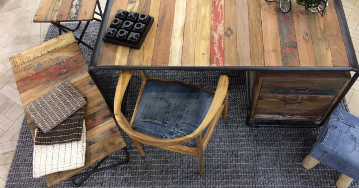 Trinity's rugs complement Bluebone's furniture well
