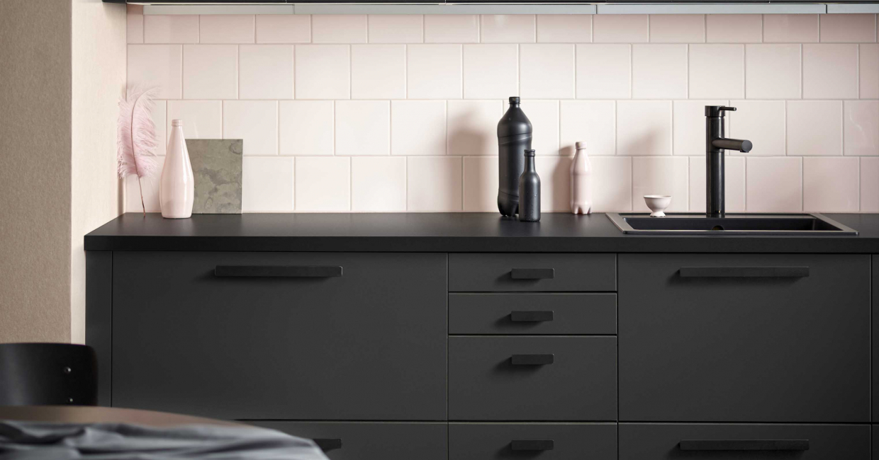 The Kungsbacka kitchen by Ikea, developed in collaboration with Form Us With Love, is part of a wider collection of furniture made from recycled products