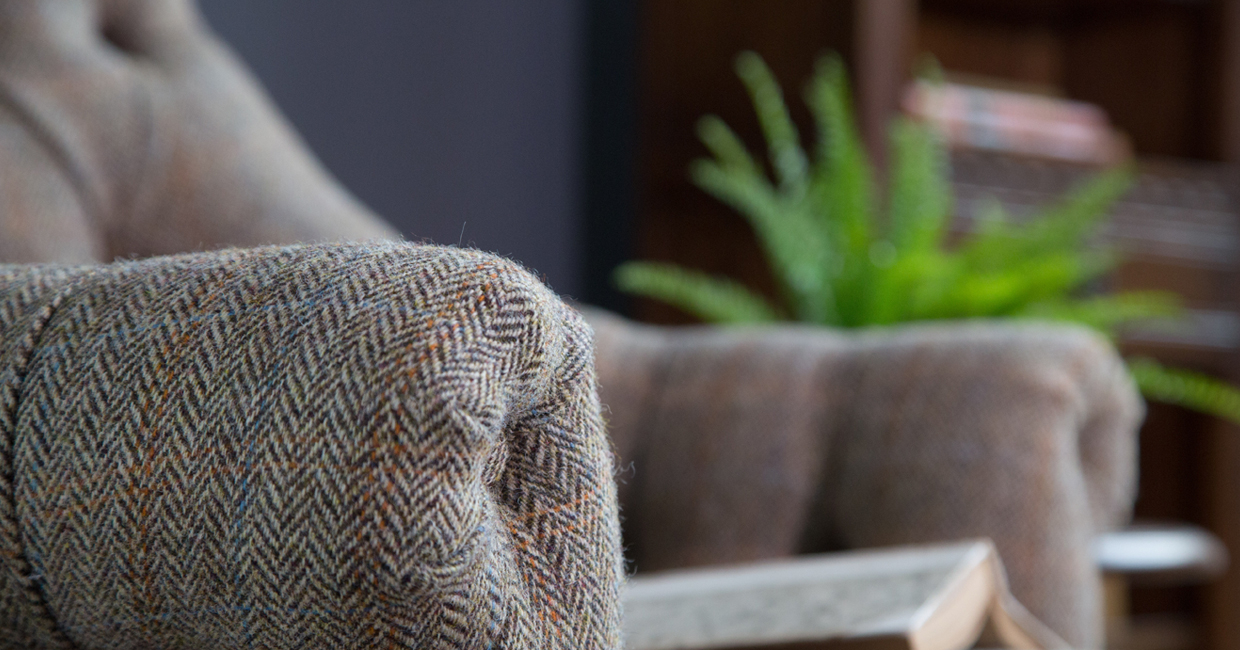 Harris Tweed fabrics are now available from Wood Bros