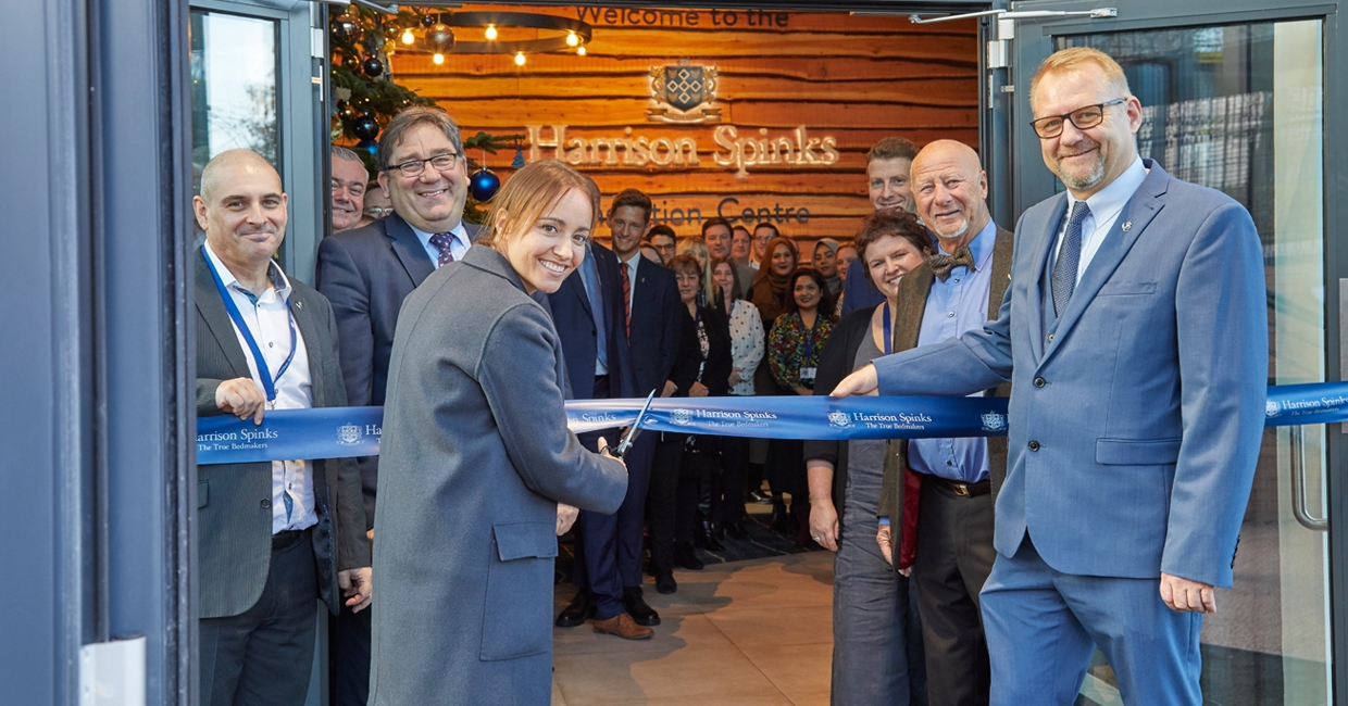 Paula Nickolds cuts the ribbon at Harrison Spinks' new Innovation Centre