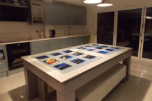 Milano dining/pool table, Sam Leisure