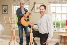 U Wood's guitar stands impress Lindisfarne frontman