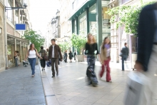 Mixed picture for retail footfall in June